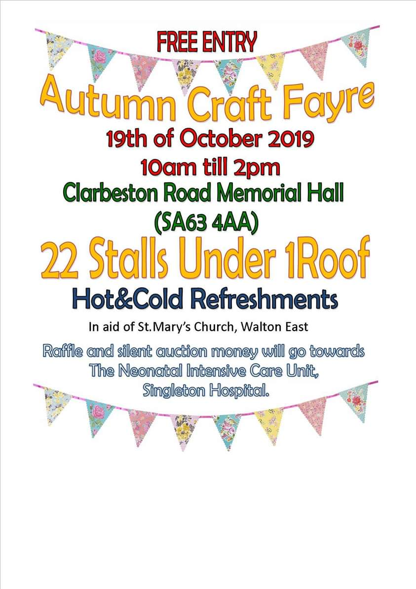 Clarbeston Road Autumn Craft Fayre