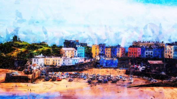 Tenby Oil Painting