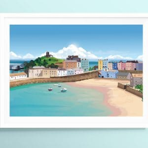 Tenby Harbour Art Print